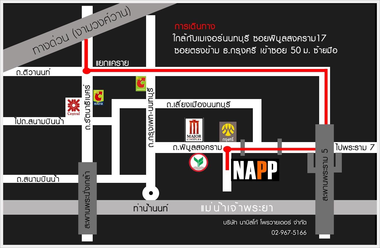 แผนที่ NAPP ม่านรถยนต์